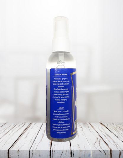 Płyn do czyszczenia okularów clean glass tył butelki